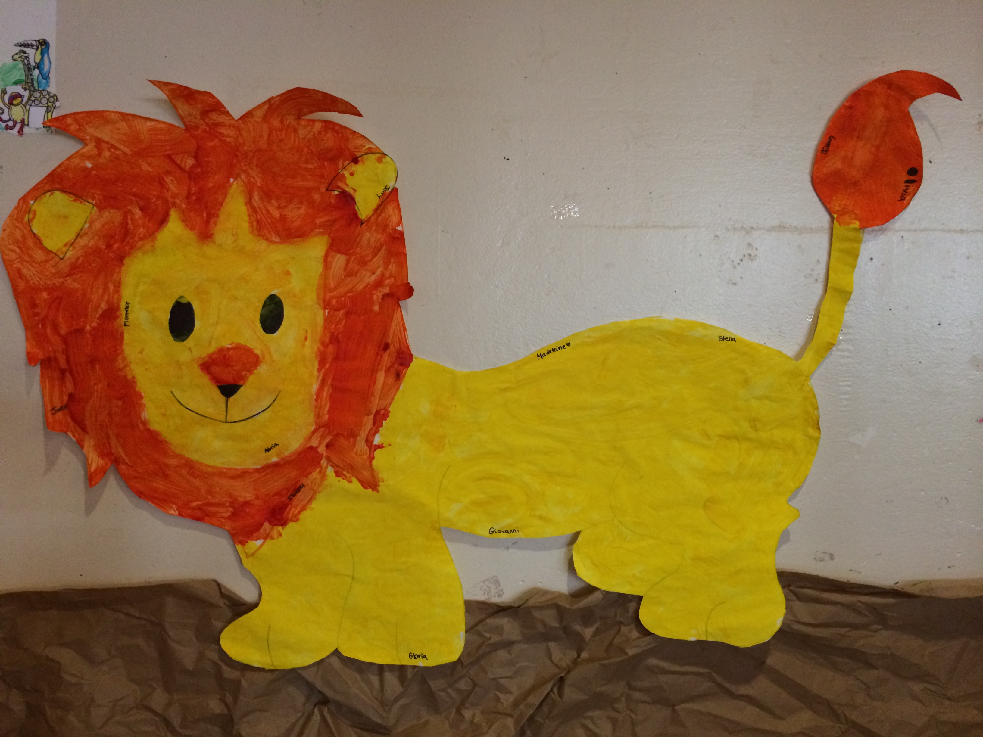 Summer camp week 3 wild animals saint victor 39 s preschool for Animals art and craft for preschoolers