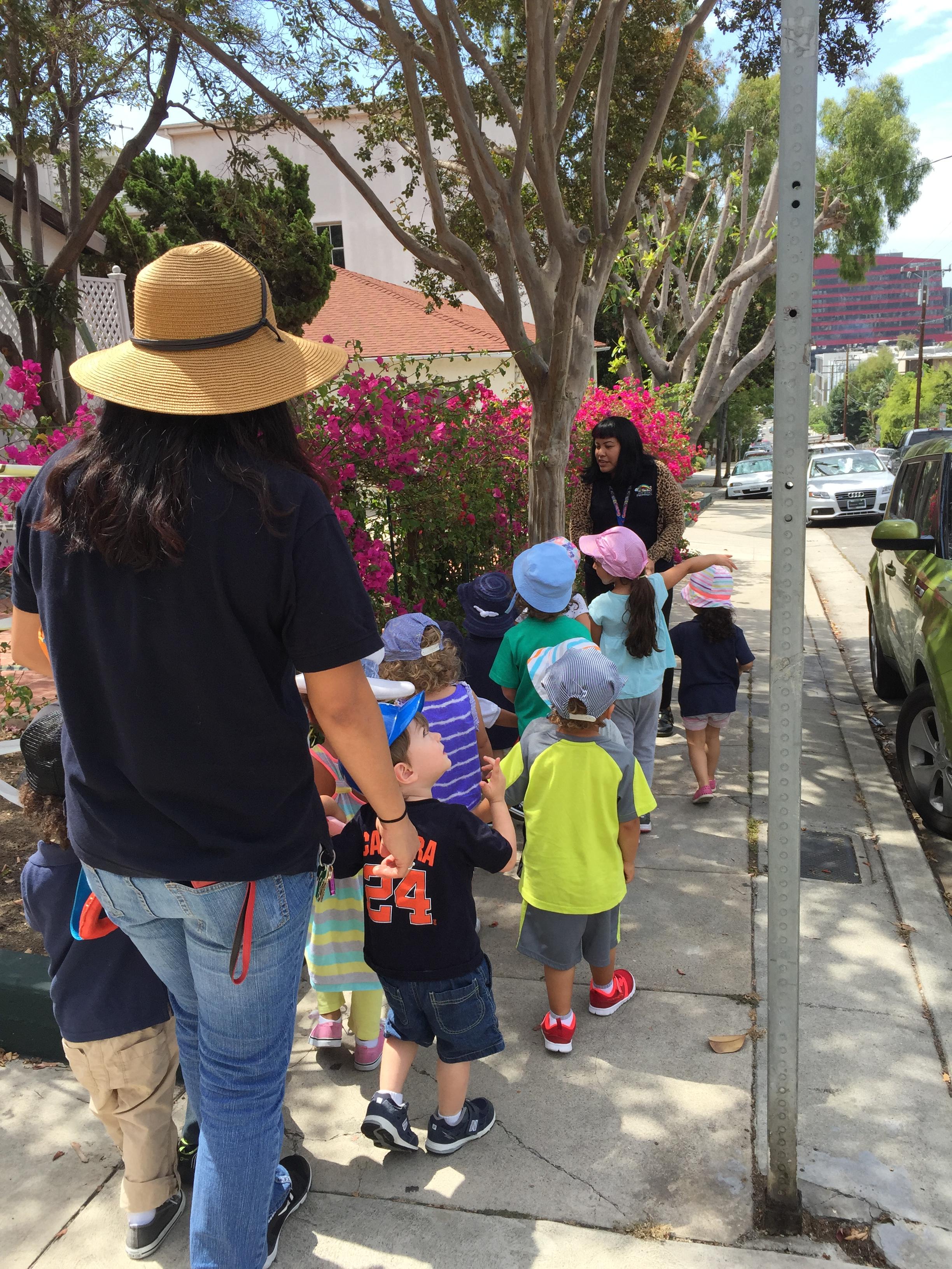 neighborhood walking trips saint victor s preschool